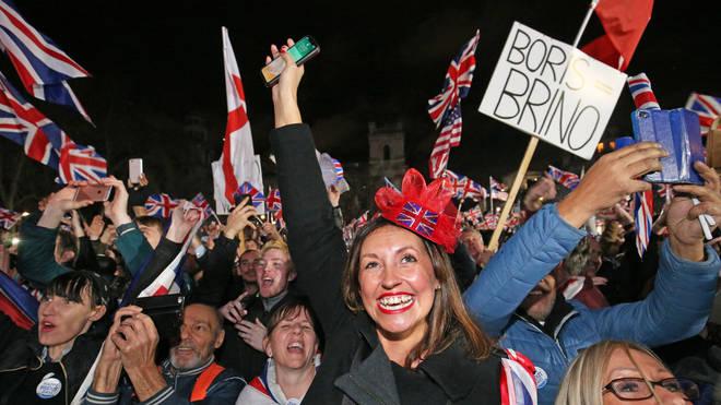 Jubilant Brexiteers celebrate Britain leaving the EU