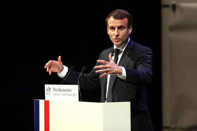 French President Emmanuel Macron has taken a swipe at Brexit