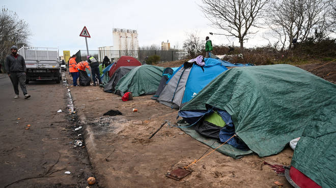 Calais refugee camps were increasingly cleared in the days leading up to Brexit