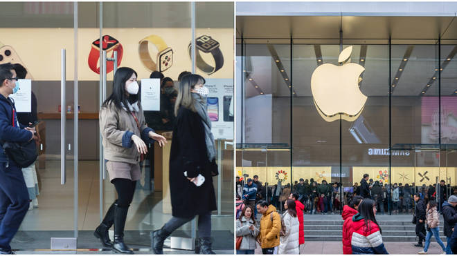 Apple is temporarily closing all 42 mainland stores in China