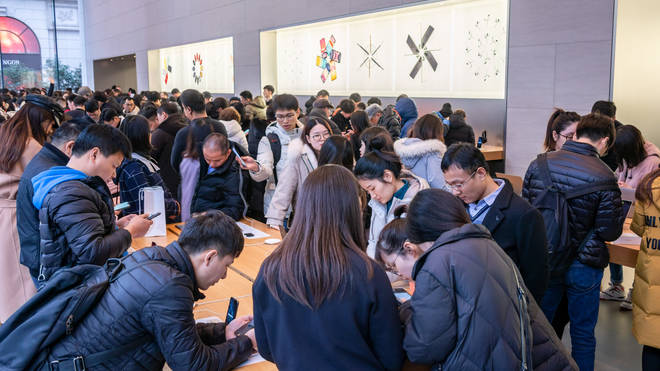 China is Apple's third-biggest market in terms of sales
