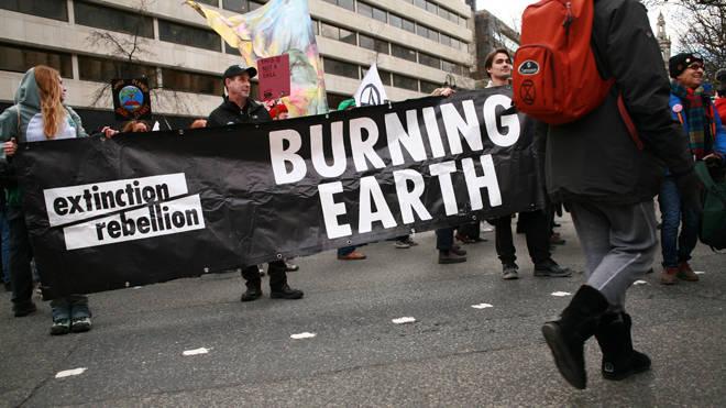 XR members protest over the Australian bushfires in London