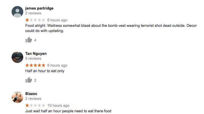 Google reviews for Life Cafe