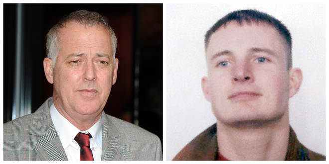 Stuart Lubbock (R) was found dead in Michael Barrymore's pool nearly 20 years ago