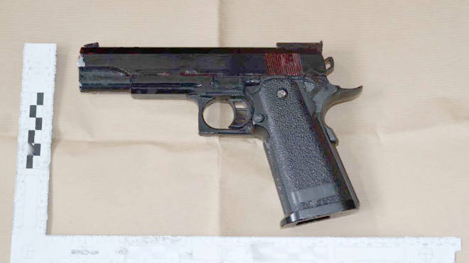 An airgun was recovered from Amman's home