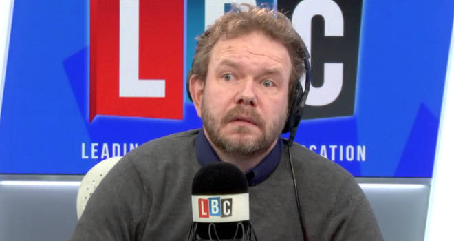 James O'Brien reacting to what he was told by caller James