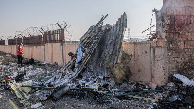 Iran initially insisted an engine fire brought the plane down