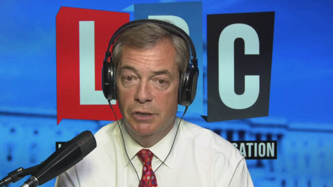 Nigel Farage was broadcasting from Washington DC
