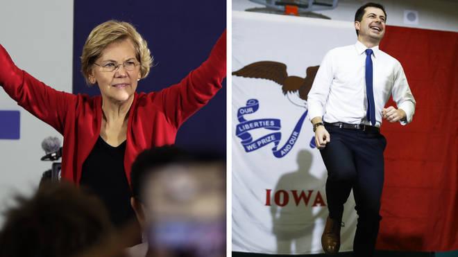 Elizabeth Warren and Pete Buttigieg are also polling well in Iowa