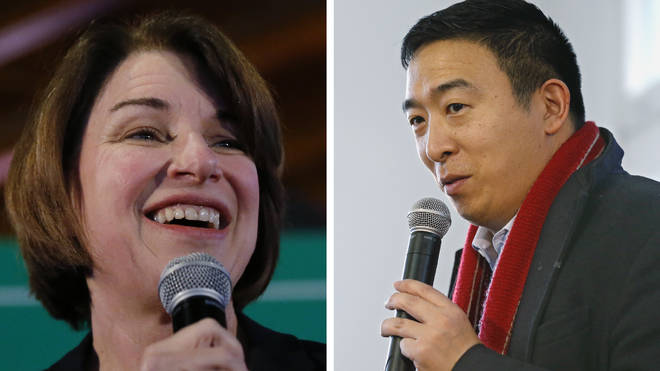 The supporters of Andrew Yang and Amy Klobuchar will be hoping their preferred candidate can pull of a surprise win