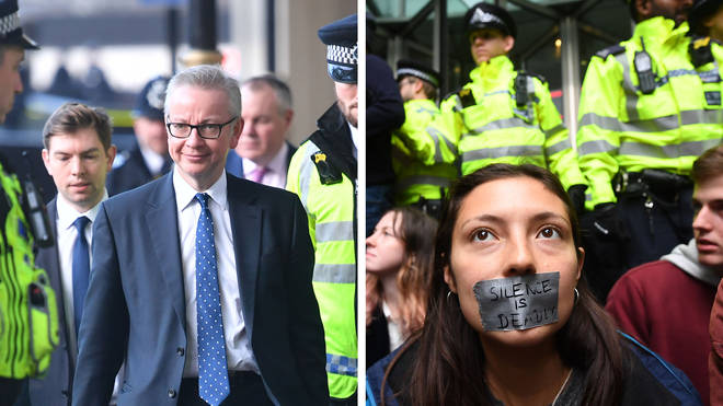 "Michael Gove warned that protests can&squot;t be allowed to ""be a pain"" for Londoners"