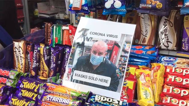 The newsagent sold out of its stock of masks