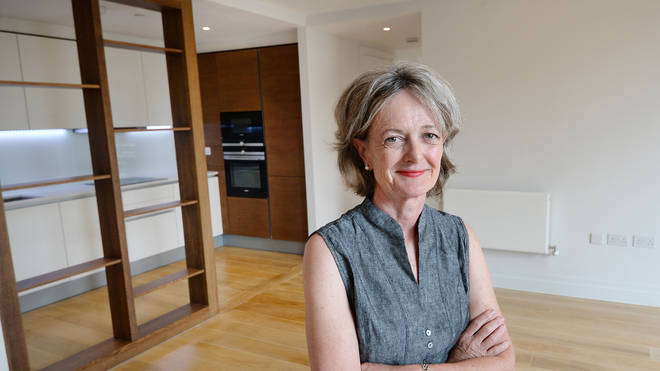 Council leader Elizabeth Campbell in a flat in Chelsea which will be offered to Grenfell residents