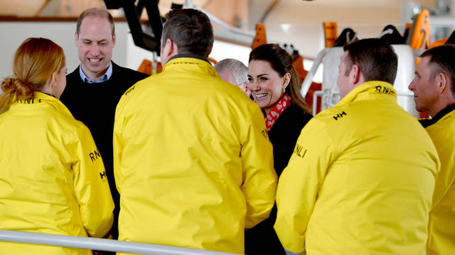The couple were visiting the RNLI Mumbles Lifeboat Station, near Swansea in south Wales.
