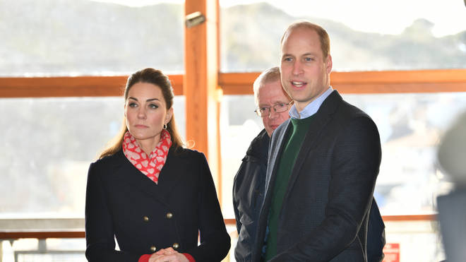 Kate and William spoke to members of the crowd during their visit