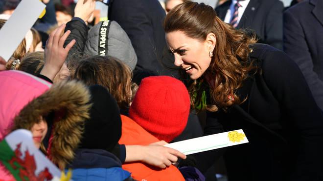 The Cambridges met with local primary school children