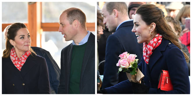 The Duke and Duchess of Cambridge in Mumbles, South Wales