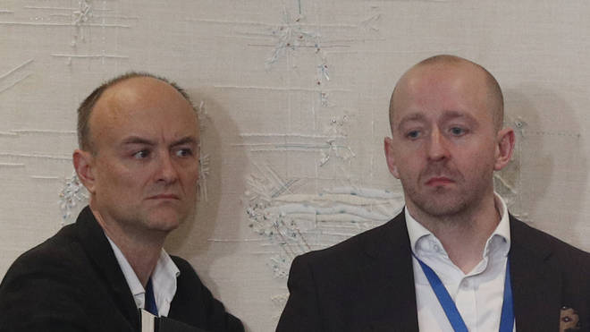 Boris Johnson's senior aide Lee Cain (right) asked certain reporters to leave No 10.