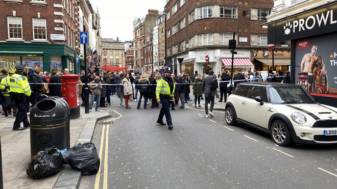The cordon was erected for a second day