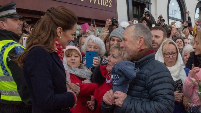 The Duchess of Cambridge met with two of her prep school teachers