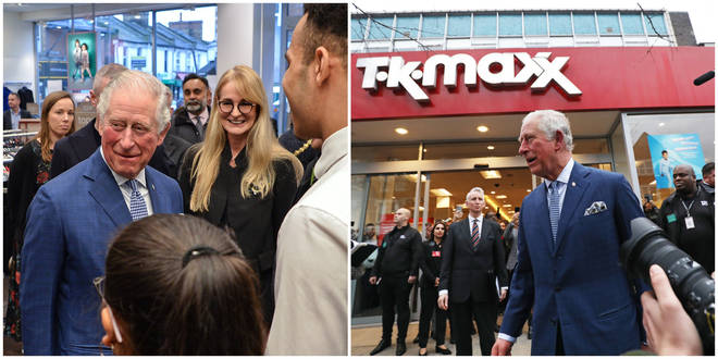 Prince Charles paid a visit to a TK Maxx store today - and absolutely loved it