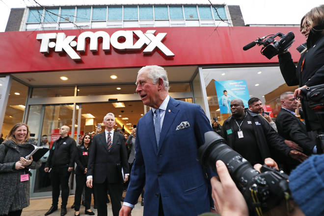 Prince Charles might not be the first person you would expect to see at a TK Maxx