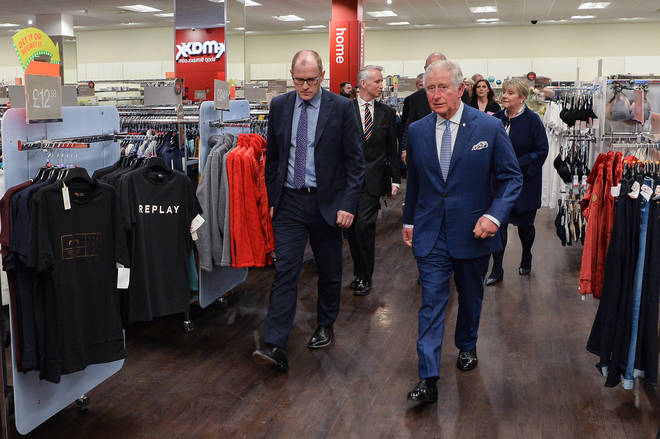 The Prince of Wales said he was surprised how bright and luxurious the store was