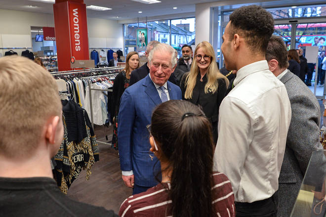 He met young people who have participated in the company's Get into Retail programme with The Prince's Trust on the shop floor in Tooting, south London