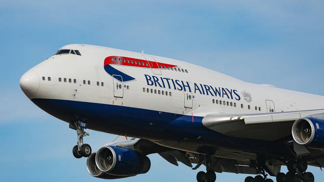 It was on board a fight from London to New York on 3 February