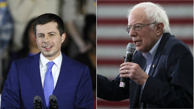 Pete Buttigieg and Bernie Sanders are leading the results
