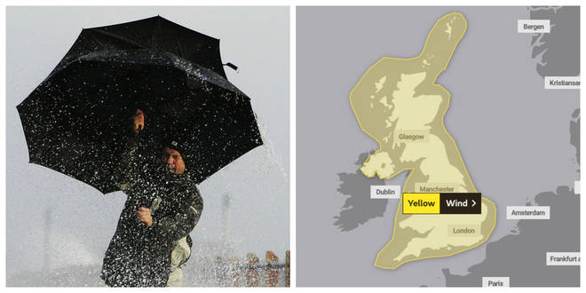 Yellow weather warnings are in place