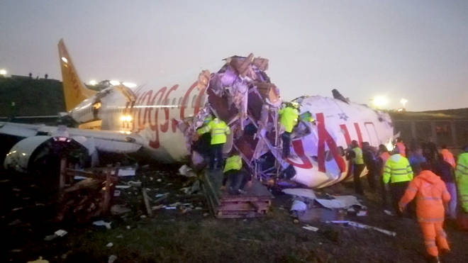 Miraculously there were no reported injuries after the Istanbul plane crash
