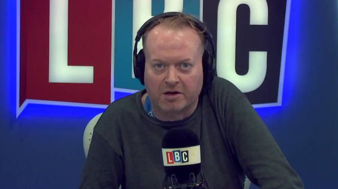 Darren Adam hit back at a caller who said he doesn't care about the homeless