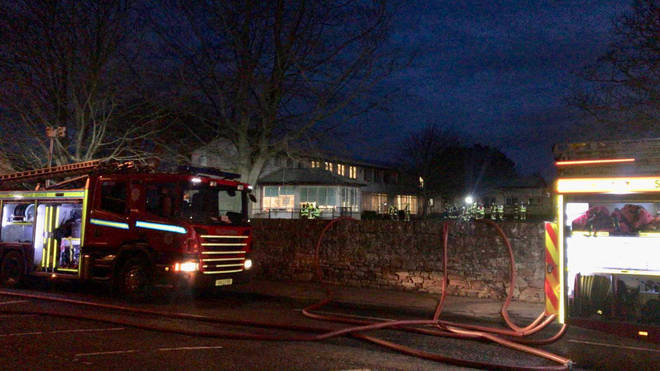 """Fire crews were called to tackle a """"major"""" blaze at an Edinburgh primary school"""