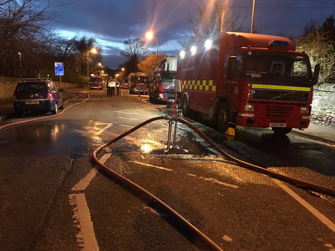 There were no reported injuries following the fire