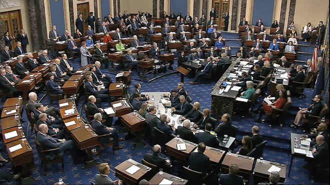 Senators voted to acquit Trump on both articles of impeachment