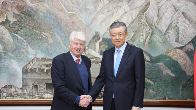 Ambassador Liu Xiaoming met with the PM's father