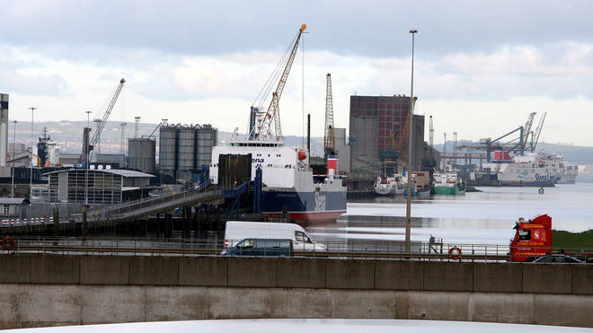 The initial report said the device was at Belfast docks