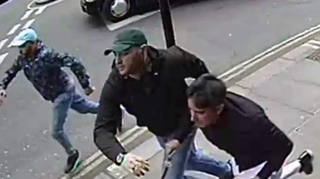 All three men were seen fleeing on foot following the attack
