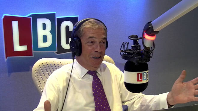 Nigel Farage came under fire from a Brexit supporter on Wednesday