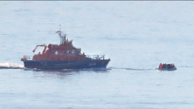 90 migrants were intercepted in the Channel and in Dover today