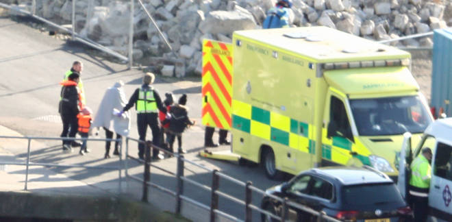 Children were among those taken off for medical assessments