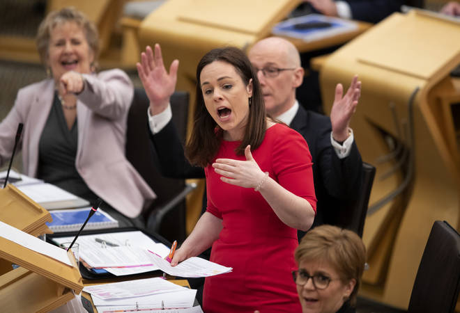 Public finance minister Kate Forbes unveils the Scottish Government's spending pledges instead of Mackay