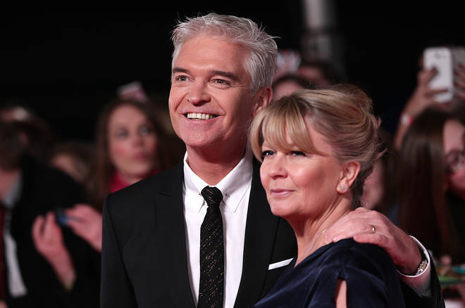 "Philip Schofield with his wife Stephanie who he said has been ""astonishing"""
