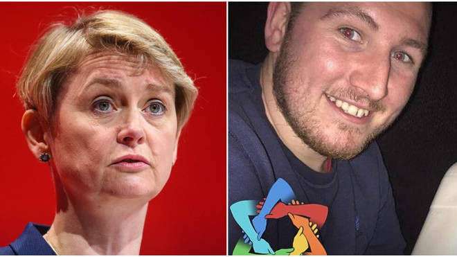 Joshua Spencer sent a message saying he was organising to hurt Yvette Cooper