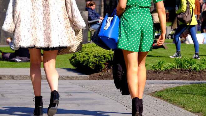 A man has pleaded guilty to upskirting schoolgirls on their lunch break