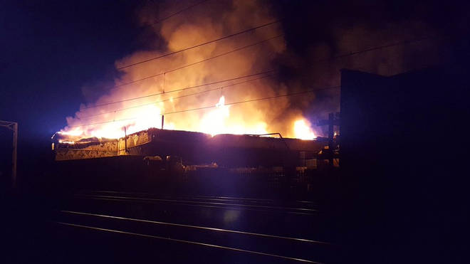 Warehouse fire in Harrow caused huge disruption for commuters