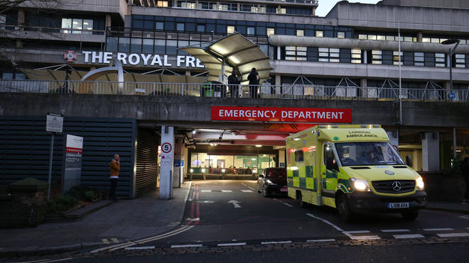 The patient has been transferred to a specialist NHS centre at The Royal Free Hospital, north London
