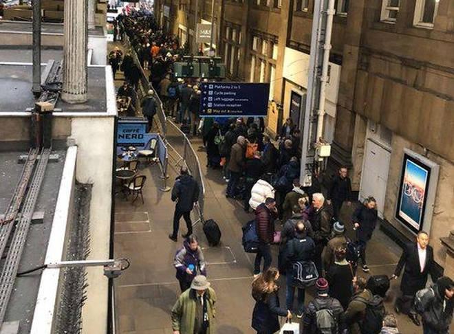 Edinburgh station has been closed