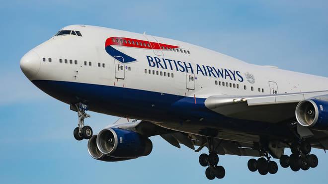The British Airways flight broke the transatlantic record